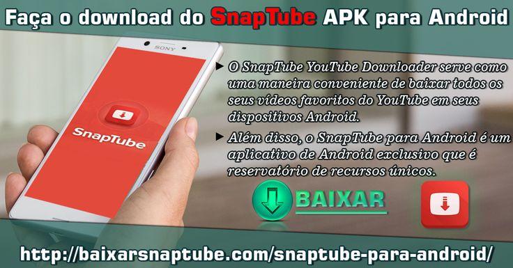 O downloadador de vídeos SnapTube é uma ferramenta popular e eficaz para baixar arquivos de vídeo do YouTube. O aplicativo oferece facilidade para baixar um vídeo de forma conveniente.   Para mais informações : http://baixarsnaptube.com/snaptube-para-android/