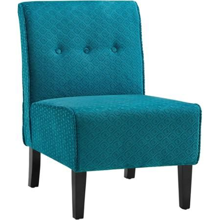 Attractive Coco Teal Blue Accent Chair