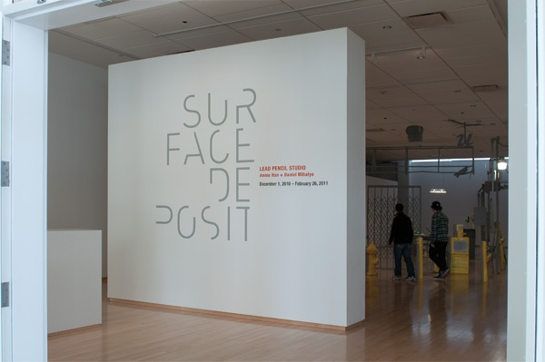 """IDENTITY FOR THE TYLER SCHOOL OF ART'S """"SURFACE DEPOSIT"""" EXHIBITION   DESIGN…"""