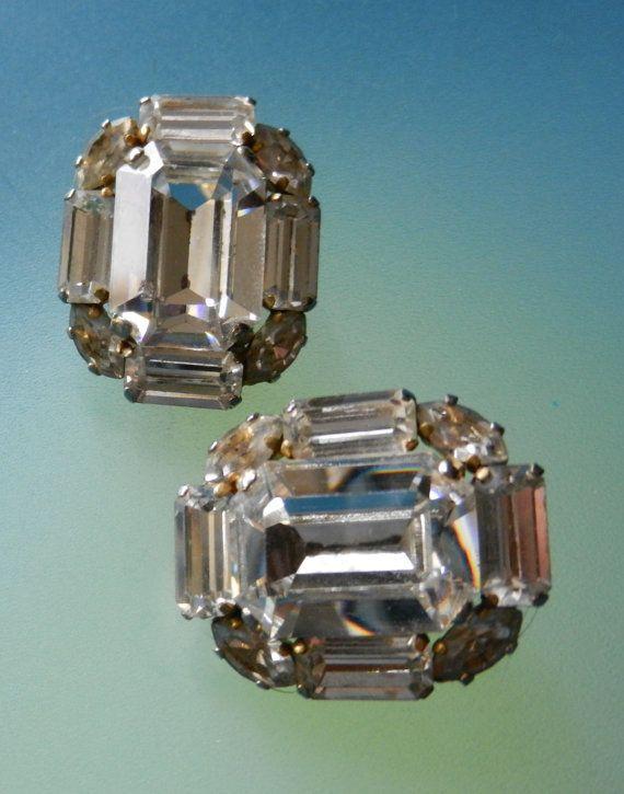 Bridal Runway Brilliant Clear Rhinestone Earrings  by RAKcreations