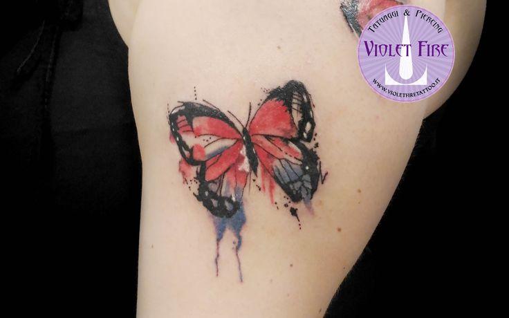 tatuaggio farfalla watercolor butterfly tattoo tatuaggio watercolor - Violet Fire Tattoo - tatuaggi maranello, tatuaggi modena, tatuaggi sassuolo, tatuaggi fiorano - Adam Raia - tatuaggio nichel free, tatuaggio senza nichel, tatuaggio vegano, nickel free tattoo, vegan tattoo, italian tattoo, tatto italy, tattoo maranello, tattoo modena