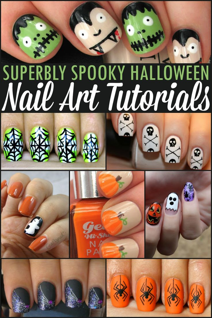Superbly Spooky Halloween Nail Art Tutorials