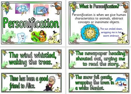 Free Printable Personification Examples Posters ...