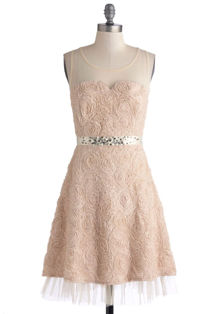 Enchanting Encore Dress. #pink #modcloth Needs a layering top and skirt extender to make it modest!