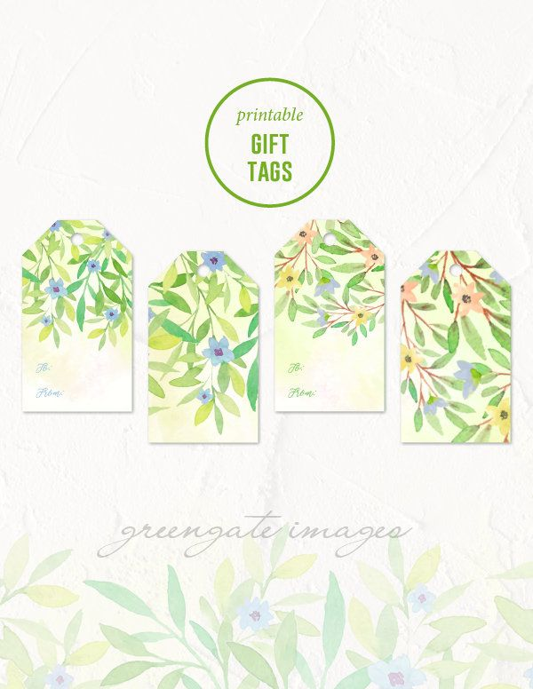 401 mejores imgenes de greengate images photo prints digital printable gift tags easter gift tags watercolor floral spring printable flowers printable instant download party decor wedding gift negle Images