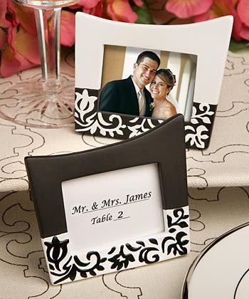 damask design picture framesplace card holders