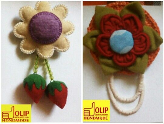 Fabric brooch by Olip Handmade