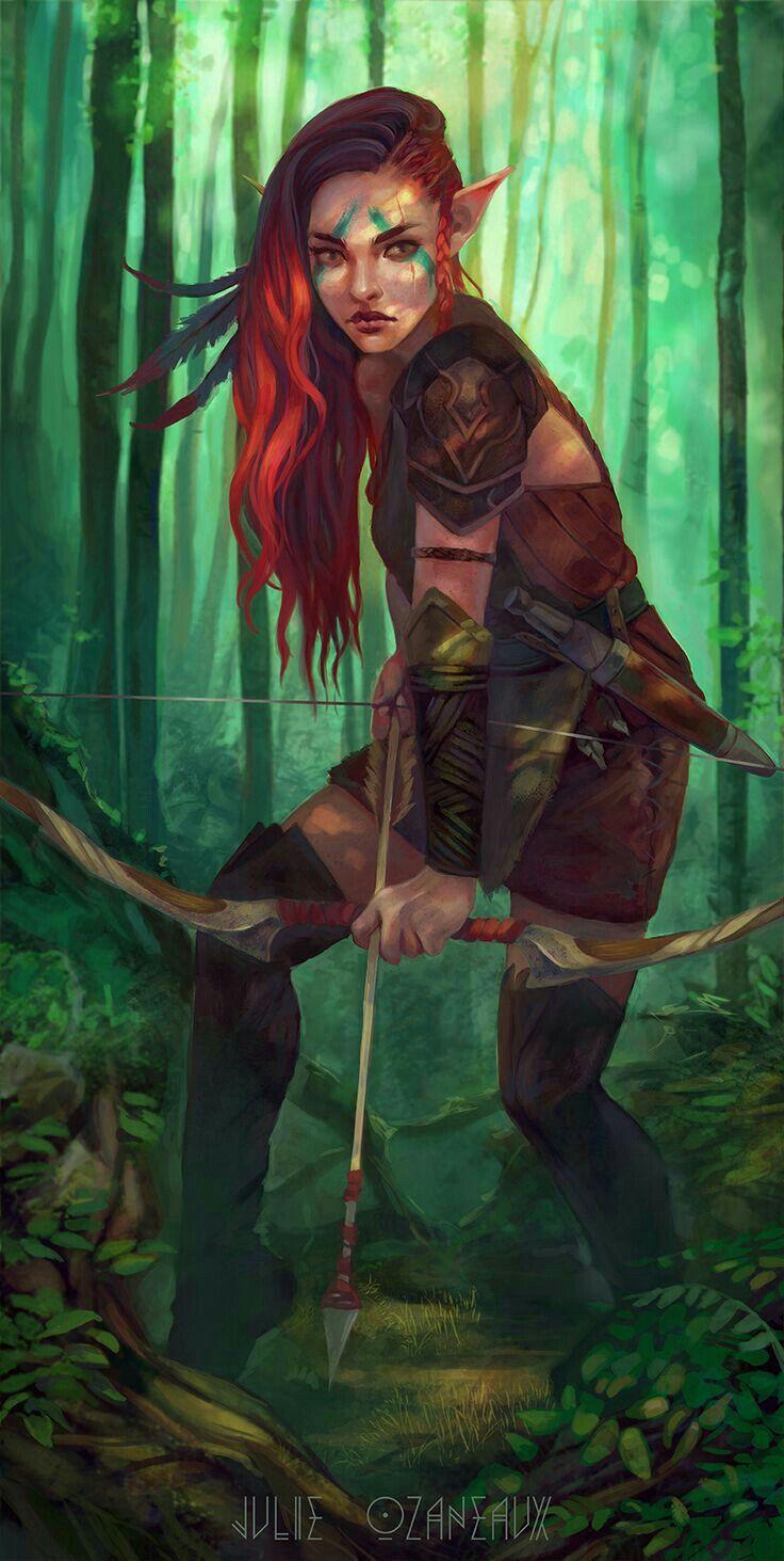 elfa driade de los bosques..