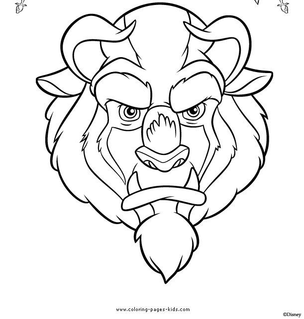 The Beast Beauty And The Beast Color Page Disney Coloring Pages