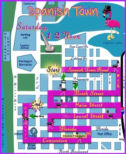 Spanish Town Mardi Gras Parade Route