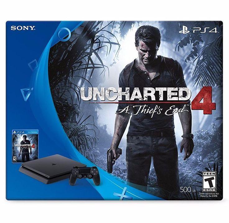 Sony PlayStation 4 Slim 500 GB Uncharted 4 Bundle - PlayStation 4