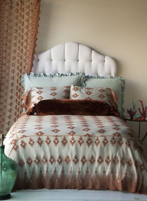 color schemes aqua rust beige   Pine Cone Hill | SHABBY CHIC® Bed Linens | Pine Cone Hill Quilts | Bella Notte Linens