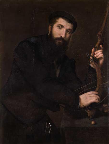 Lorenzo Lotto (Venezia 1480 ca. - Loreto 1556) Ritratto di balestriere (Mastro Battista di Rocca Contrada) 1551 ca. - Pianacoteca Capitolina, Palazzo dei Conservatori, Roma.