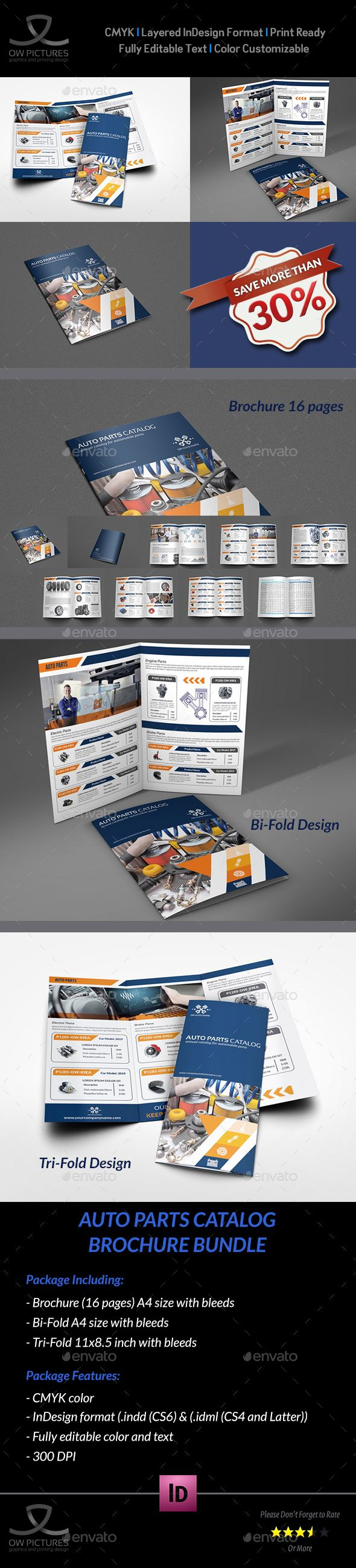 Auto Parts Catalog Brochure Bundle #Template Vol.2 - Catalogs #Brochures Download here: https://graphicriver.net/item/auto-parts-catalog-brochure-bundle-template-vol2/19328014?ref=alena994