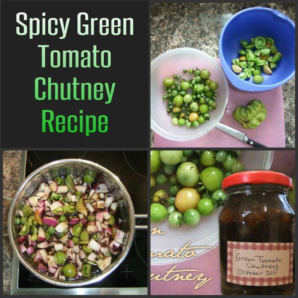 Spicy Green Tomato Chutney | Livened Food | Pinterest
