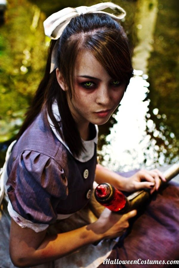 zombie girl makeup for Halloweeen - Halloween Costumes 2013