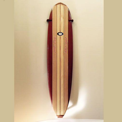 vertical surfboard rack designed by Dennis Kahn