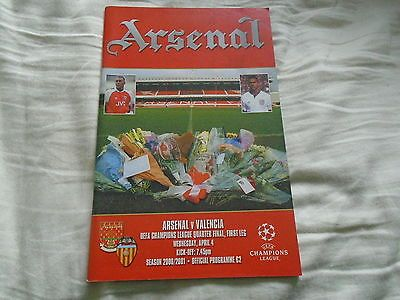 #Arsenal v valencia uefa #champions league quarter #final 1st leg programme 4/4/0,  View more on the LINK: http://www.zeppy.io/product/gb/2/142227900523/