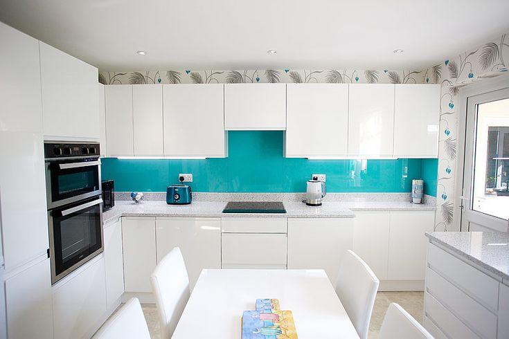 teal splashback kitchen - Google Search