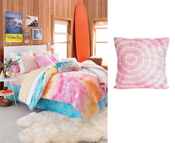 Teen Bedroom Pink Tie Dye Pillow