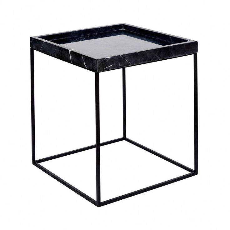 Buy Low Height Solid Coffee Table By Wood Dekor Online: Shop Online This Modern Designer Black Marble Tray Side