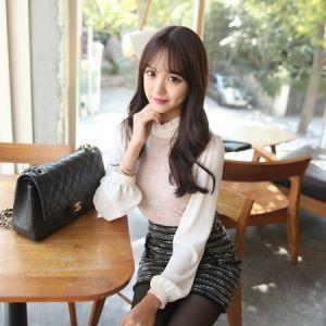 Korea Womens Luxury Shopping Mall [mimindidi] Berry ♡ bl / Size : FREE / Price : 40.97 USD #korea #fashion #style #fashionshop #apperal #luxury #lovely #mimididi #top #blouse #dailylook