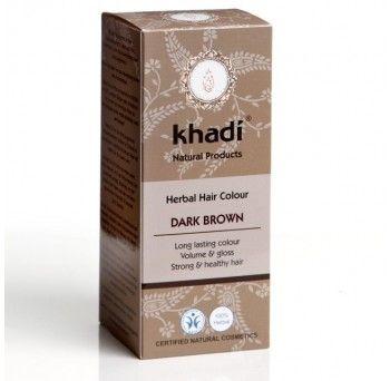 Vopsea de par naturala saten inchis, 100gr, Khadi - Sabedoria