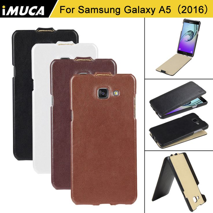 iMUCA Brand Luxury Phone Cases for Samsung Galaxy A5 2016 Vertical Flip Leather A5 A510F A510M Cover Cases with retail bag