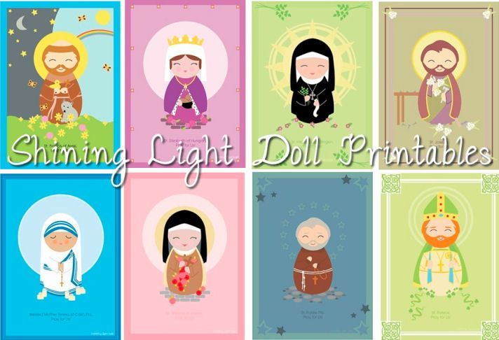 free fun saint printables for catholic kids