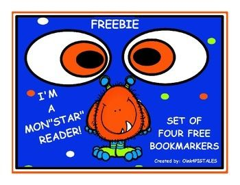 retro 13 for sale size 8 SET OF FOUR DIFFERENT BOOKMARKERS THAT SAY   34 I  39 M A   34 MON  34 STAR Reader  These match my MONSTER COMPLETE CLASSROOM MANAGEMENT UNIT in my store