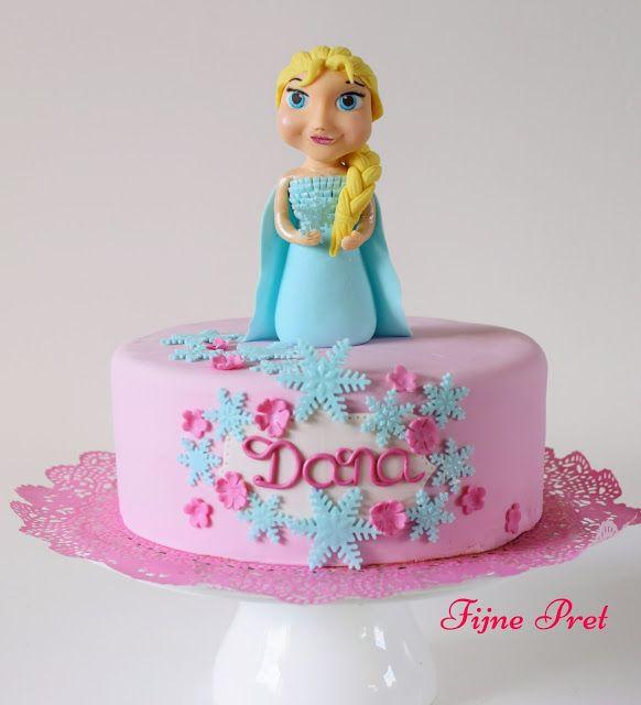 Fijne Pret: Elsa topper cake