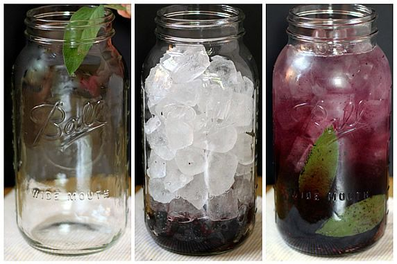 Blackberry Sage Flavored Water (subtle, refreshing flavor). Add sage leaves to jar and bruise with a muddler. Add blackberries; press and twist with muddler to release their juices. Fill jar with ice cubes, add water to the top, stir, cover and refrigerate.