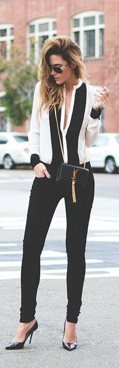 street fashion / work in style YSL