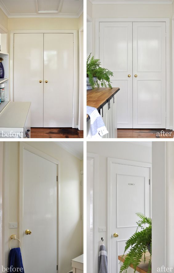 How to Add Trim to Plain Doors