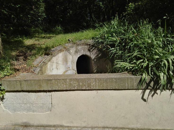 Búnker de El Capricho - Respiradero entre las dos entradas.