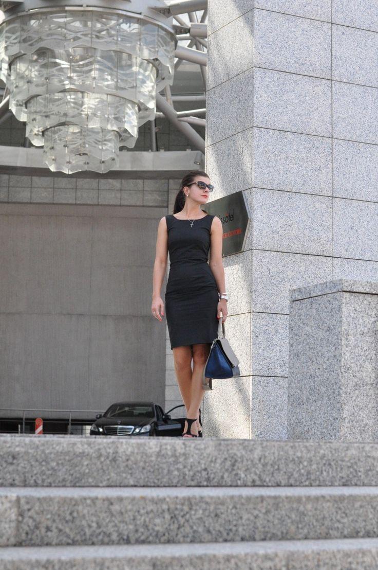 Little black dress and Celine bag