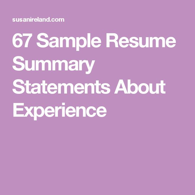 25+ unique Resume summary examples ideas on Pinterest Linkedin - audio visual specialist sample resume
