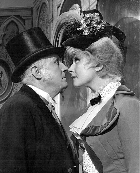 Carol Channing as Dolly Levi and Milo Boulton as Horace Vandergelder from the Broadway presentation of Hello, Dolly!