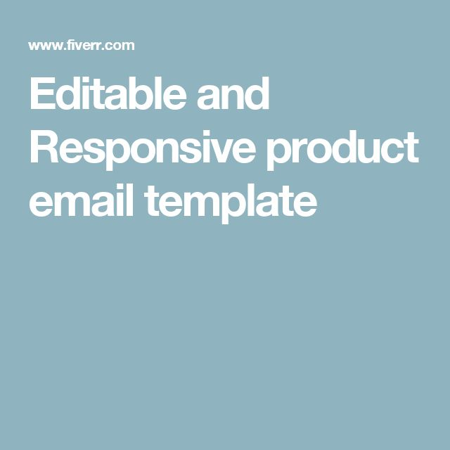 Editable and Responsive product email template