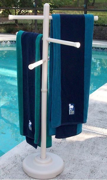 Outdoor Pool Towel Rack Patio