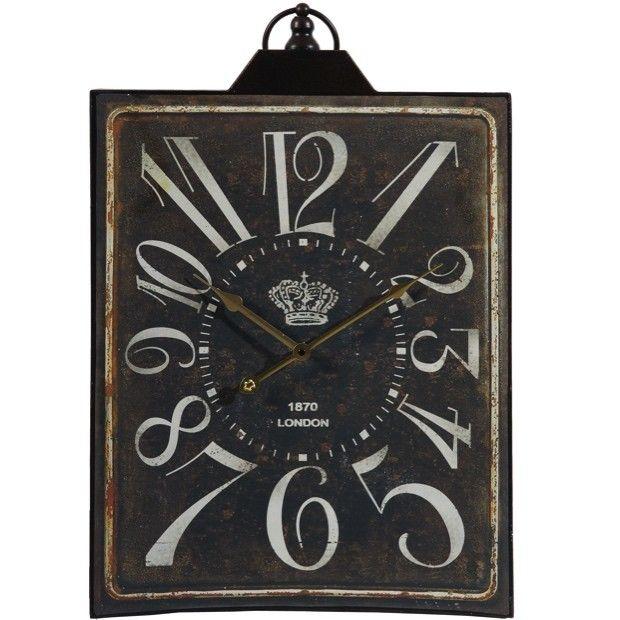 Rustic Rectangular Wall Clock