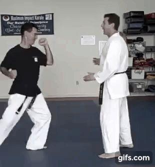 Arm drag to kubi-wa (neck ring) - Shotokan karate