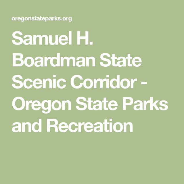 Samuel H. Boardman State Scenic Corridor - Oregon State Parks and Recreation