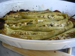 Greek recipe - greek food recipes and cooking - Stuffed peppers with cheese - Πιπερίες γεμιστές με τυρί