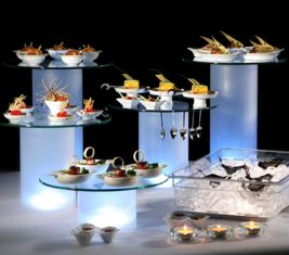 Equipo para buffet #Zieher, ilumina tu espacio.