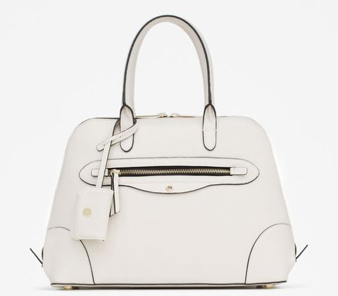 7 White Pieces to Wear Through Fall - Zara purse - from InStyle.com