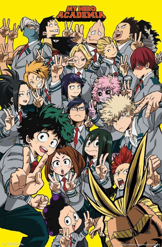 details about my hero academia selfie mount bundle wall on poster my wall id=48663