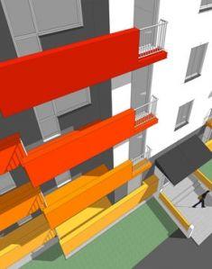 Block of flats concept, architecture by Artlandia