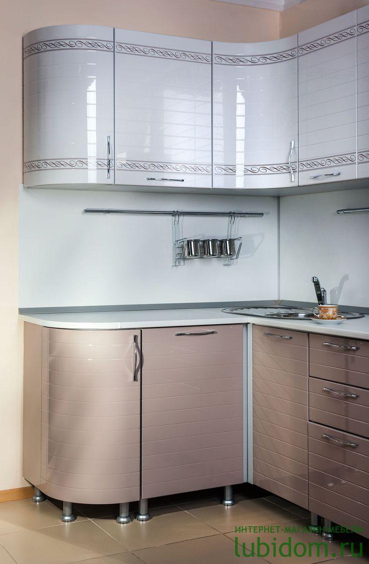 #Кухня «Анастасия» (тип 3, «Капучино», «Белый глянец» с прямой фрезеровкой и рисунком) по лучшим ценам от производителя | Серии модульной мебели для кухни по лучшим ценам | Купить кухню и комплектующие | Каталог мебели от производителя «Любимый Дом» - lubidom.ru