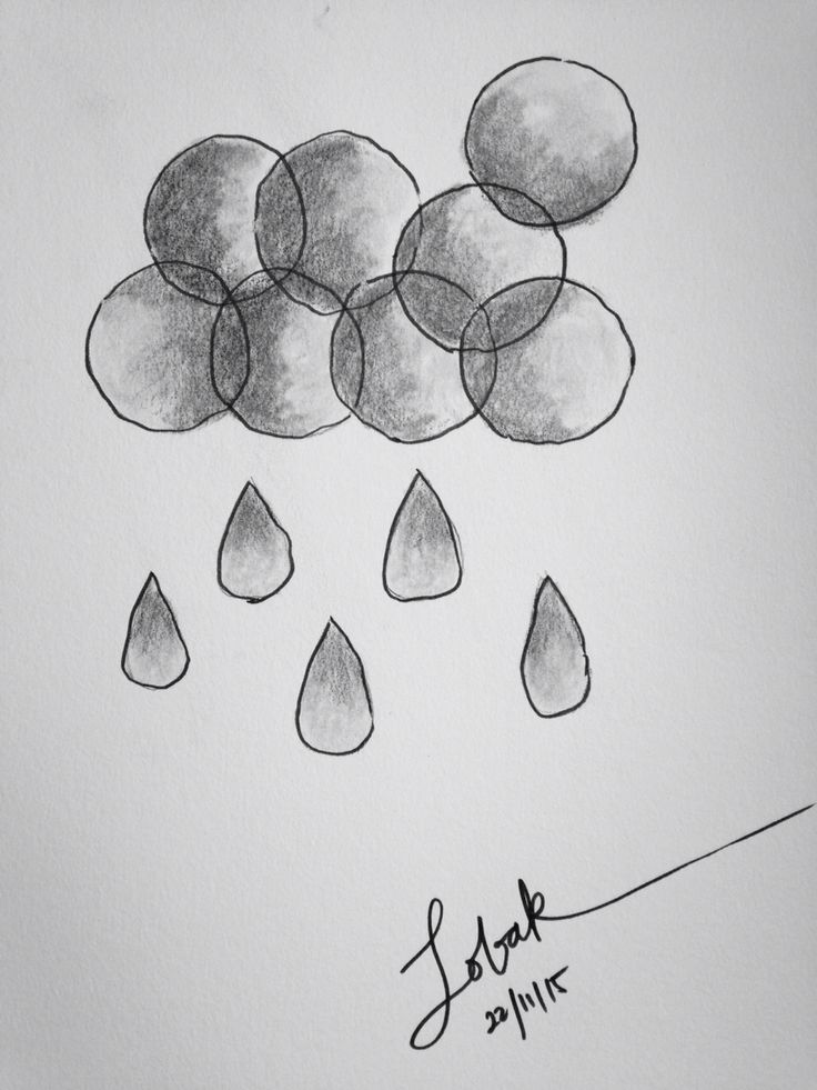 Haze drops. Pencil and ink on paper